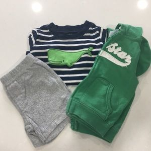 Casual 3 piece Baby Boy Summer Outfit Sz 12m